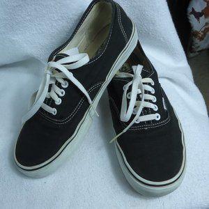 Vans Black Canvas Lace Up Sneakers Size 10.5